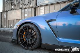 Blue Gray Color Nissan Gtr R35 Phenomenal Vinyl Color Shifting Laminate