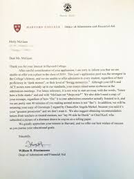 Awesome College Acceptance Letter Somebody Give This High Schooler An Award For Harvard