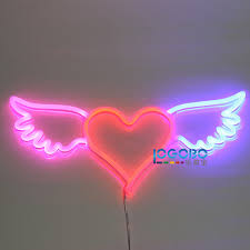 flex led neon sign wing red and custom made