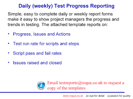 testing daily status report template tips and templates for test managers