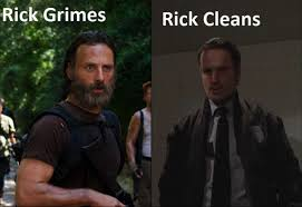 Meme Rick - rick cleans walking dead season 5 meme