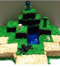 minecraft cake 4 steps
