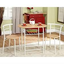 Kitchen Furniture For Small Spaces Amazon Com Bistro Set 3 Piece For Small Space In Kitchen
