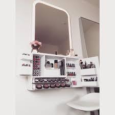 wall mounted vanity makeup organizer bleach la furnishings http