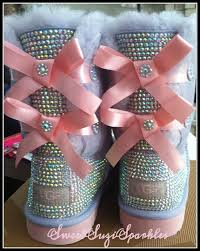 ugg bailey bow boots on sale youth heathered lilac and pink bailey bow ugg boots custom bling