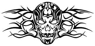 tribal skull designs for pictures to pin on