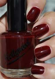 so lonely in gorgeous deep red hollywood 825 artic red nail polish