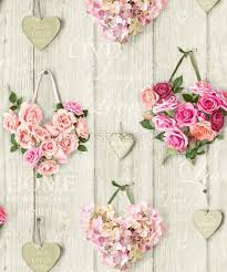 love lives here hearts wallpaper pink the shabby chic guru