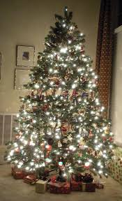 artificial silver christmas tree christmas lights decoration