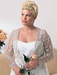 plus size wedding dresses with sleeves or jackets plus size lace jacket wedding dress for the curvylicious