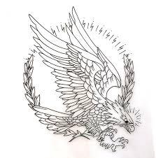 eagle tattoo on finger eagle traditional circle tattoo inspiration pinterest
