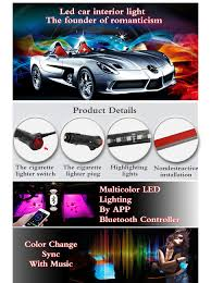 how to hook up led light strips in car amazon com saimly 4 piece multicolor led interior underdash