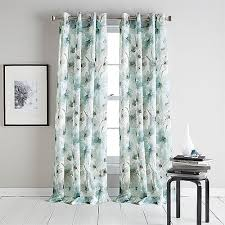 Grommet Curtains 63 Length Dkny Modern Bloom Print Sheer Grommet Panel Boscov U0027s