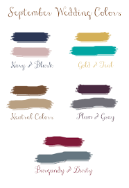 5 fall wedding colors september brides
