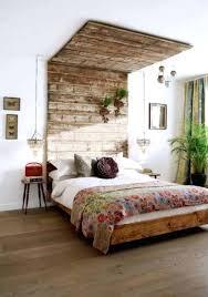 rustic wooden bed frame u2013 bare look