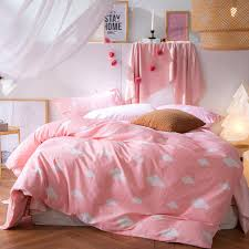 full image for pink gingham duvet cover twin 4pcs sweet pink duvet cover 100 cotton twin