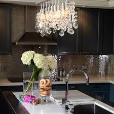 Kitchen Chandelier Lighting Modern White Kitchen Chandelier Design Ideas