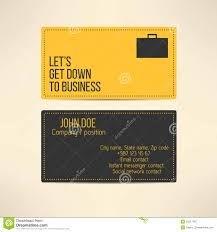 business card template made in yellow and gray stock vector