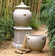 Urn Planters With Pedestal Classic Pediment Planters Fine Cast Stone Urns Jardinieres