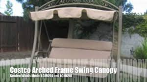 Mainstays Replacement Canopy by Costco Arched Frame Swing Replacement Canopy From Garden Winds