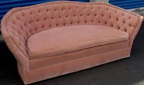 Vintage Tufted Sofa by Nicole Wood Interiors Sold Vintage Tufted Curved Back Sofa