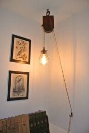 pulley pendant light fixtures hanging pulley ceiling l ideas google search hanging light