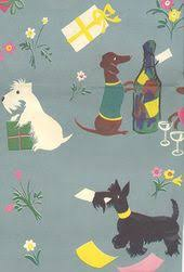 dachshund wrapping paper scottie dog wrapping paper party wrapping paper