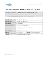sow template statement of work template