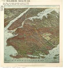 Old Map New York City by Bird U0027s Eye Views Of Brooklyn New York City