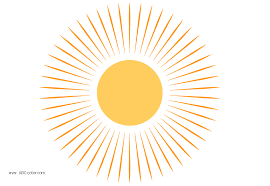 raster clipart sun rays like ninepins