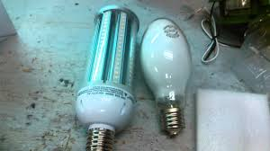 Led Light Bulb Conversion Chart by Led Conversion From A 250 Watt Compressed Mercury Youtube