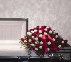 casket sprays white carnation casket spray lofendo flowers