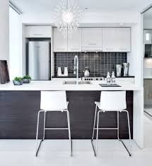 montreal small galley kitchen contemporary with white counter