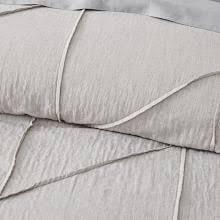 gray bedding west elm