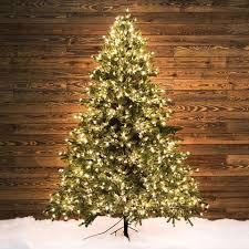 lowes artificial christmas trees with lights shop ge 7 5 ft pre lit pinehurst spruce artificial christmas tree