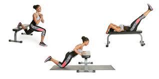 the total body bench burn workout padded bench exercise routine