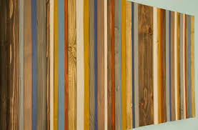 reclaimed wood wall rustic wood decor modern wood sculpture