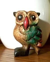 wooden owl ebay