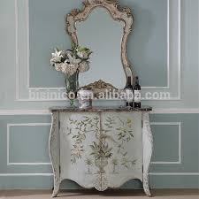 Painted Console Table Floral Painted Console Table Storage Cabinet Elegant Home