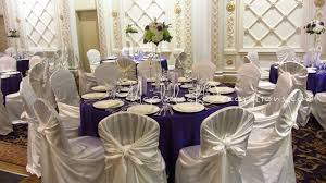 table and chair cover rentals banquet table decorations table decor guest table purple