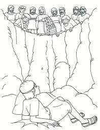 joseph thrown into pit coloring page google search sabbath