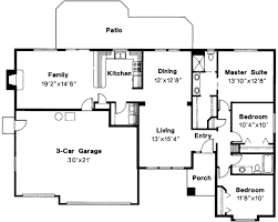 ranch floor plans with 3 car garage ranch style house plan 3 beds 2 00 baths 1711 sq ft plan 124 283