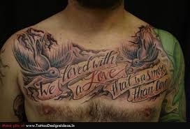 lettering tattoos and designs page 23 chest lettering
