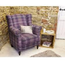 warwick highland chair in blue and white tartan pinterest