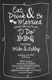 coed bridal shower wedding shower invitation any colors eat drink be married i do bbq