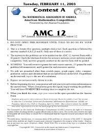 2003amc12a geometry physics u0026 mathematics