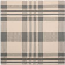 Safavieh Indoor Outdoor Rugs Grey Plaid Indoor Outdoor Rug Safavieh Courtyard Rugs
