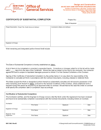 certificate of substantial completion template imts2010 info