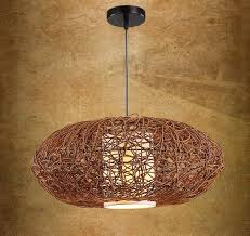 discount southeast asia wicker woven pumpkin dining room ceiling