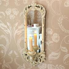 Candle Wall Sconces Candle Wall Sconces With Globe And Mirror Cream Mirror With Wall